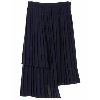 ラグナムーン(LagunaMoon)のラグナムーン 美品 レイヤードプリーツスカート snidel deicy(ロングスカート)