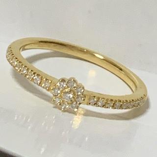 アガット(agete)のK18 ダイヤモンド ベルシオラ   0.14ct リング (リング(指輪))