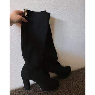黒のシンプルブーツ(ブーツ)