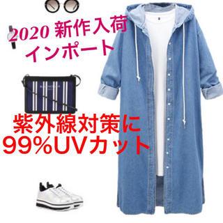 ZARA - 新作 人気 デニムコート スプリングコート 紫外線対策 パーカー オーバーサイズ