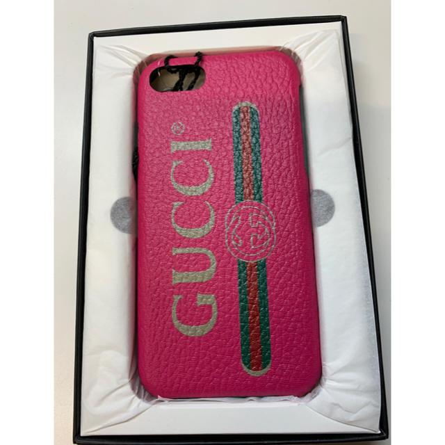 Gucci - 新品 GUCCI プリントiPhone7 8ケース ピンクの通販
