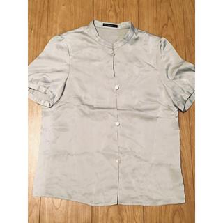 ロッソ(ROSSO)のrosso サテン生地 ブラウス シャツ(シャツ/ブラウス(半袖/袖なし))
