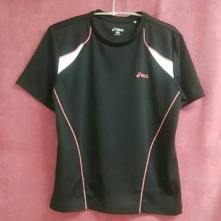 アシックス(asics)のasicsアシックス Tシャツ 黒 レディースM-L相当(Tシャツ(半袖/袖なし))