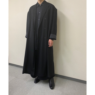 LAD MUSICIAN -  DOUBLE BREASTED SUPER BIG MAXI JACKET