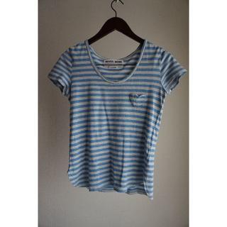 ミュベールワーク(MUVEIL WORK)のMUVEIL WORK ミュベールワーク ボーダーTシャツ(Tシャツ(半袖/袖なし))