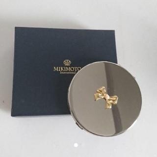 ミキモト(MIKIMOTO)の❗値下げ新品 ミキモト コンパクト ミラー パール 鏡 真珠 リボン(ミラー)