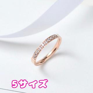 ラインストーンリング5サイズ錆びにくいレディース(リング(指輪))