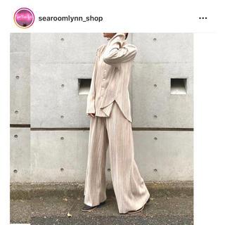 シールームリン(SeaRoomlynn)のsearoomlynn ベロアランダムプリーツシャツジャケット(ノーカラージャケット)