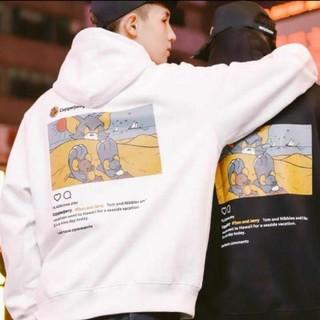シュプリーム(Supreme)の値下げ トムとジェリー Instagram プリントパーカー ブラック(パーカー)