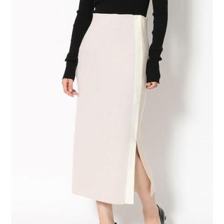 ラグナムーン(LagunaMoon)のLAGUNAMOON ラグナムーン  サイドスリットラインニットスカート(ロングスカート)