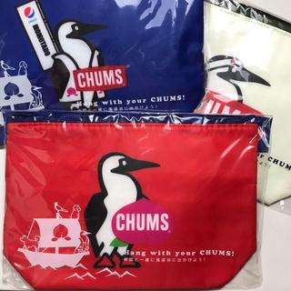 チャムス(CHUMS)のpepsi × CHUMS オリジナル保冷バッグ 3個セット(赤×2、青×1)(弁当用品)