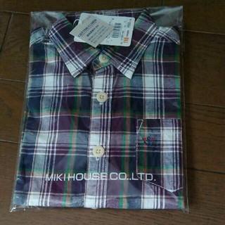 ミキハウス(mikihouse)の新品 ミキハウス 110 半袖 シャツ(Tシャツ/カットソー)