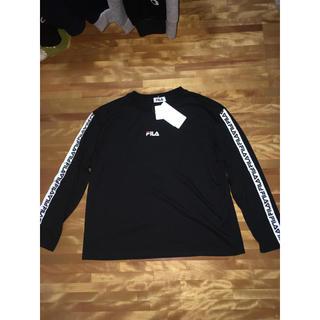 フィラ(FILA)のFILA ロンT 黒(Tシャツ(長袖/七分))