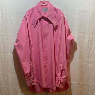 ジョンローレンスサリバン(JOHN LAWRENCE SULLIVAN)の変形カラーシャツ 70s 70年代 サイケデリック ピンク(シャツ)