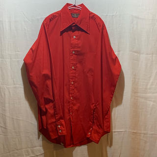ジョンローレンスサリバン(JOHN LAWRENCE SULLIVAN)のvan husen 70年代シャツ 70年代 70s レッド(シャツ)