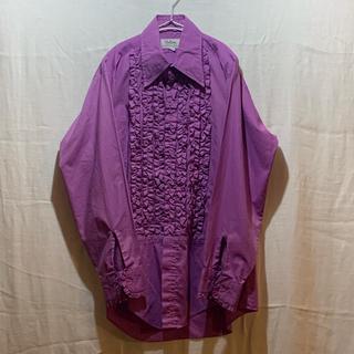 ジョンローレンスサリバン(JOHN LAWRENCE SULLIVAN)の専用 紫フリルシャツ サーモンピンクフリルシャツ(シャツ)