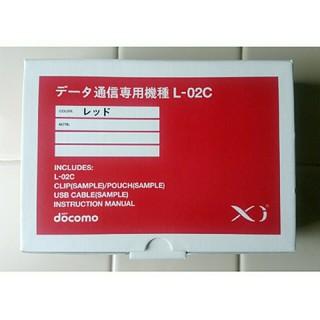 エヌティティドコモ(NTTdocomo)の未使用☆ドコモ データ通信専用機種 L-02C レッド(PC周辺機器)