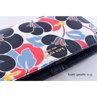 ケイトスペードニューヨーク(kate spade new york)のChamaさん専用: ケイトスペード 新品♡カラフルな花柄カードケース!(パスケース/IDカードホルダー)