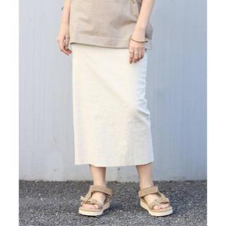 プラージュ(Plage)の2020ss 麻ストレッチタイトスカート 未使用(ロングスカート)