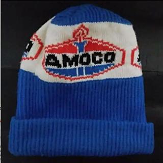 ロンハーマン(Ron Herman)のロンハーマンAMACOロンゲージウールスキー青ホワイトニット帽キャップフリー新品(ニット帽/ビーニー)