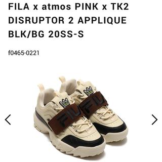 アトモスガールズ(atmos girls)の【新品未使用】atmos pink×FILA×TK2 トリプルコラボ スニーカー(スニーカー)