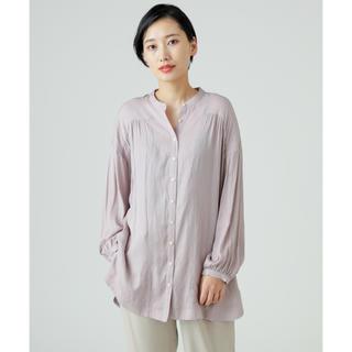 ディスコート(Discoat)のDiscoat バンドカラーチュニックシャツ(シャツ/ブラウス(長袖/七分))
