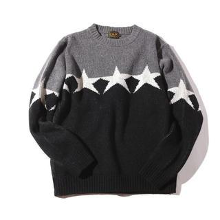 キャリー(CALEE)のCALEE/Lamb wool jacquard knit sweater(ニット/セーター)