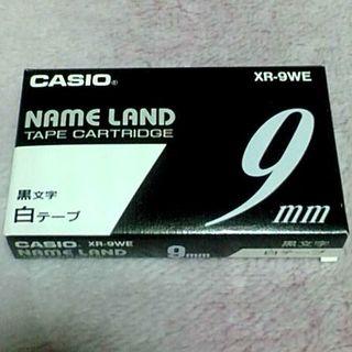 カシオ(CASIO)の★新品★ CASIO ネームランド テープ 9mm幅 白テープ(その他)