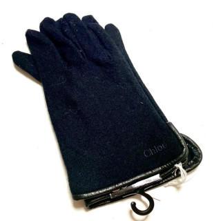クロエ(Chloe)の新品 メンズ ニット 手袋 ブラック(手袋)