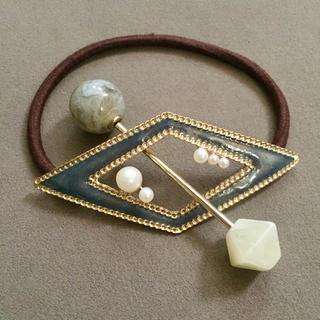 ザラ(ZARA)のダイヤ型ヘアゴム (バレッタ/ヘアクリップ)