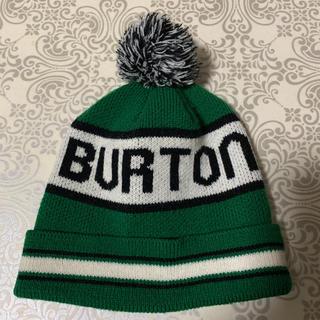 バートン(BURTON)の【BURTON】 良品 バートン ニット帽 ボンボン ニットキャップ フリー(ニット帽/ビーニー)