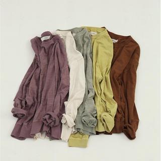 トゥデイフル(TODAYFUL)のtodayful slub cotton long t shirt(Tシャツ(長袖/七分))