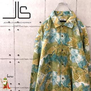 ジャンルイシェレル(Jean-Louis Scherrer)の【日本製】90s JEAN LOUIS SCHERRER ポリエステル シャツ(シャツ)