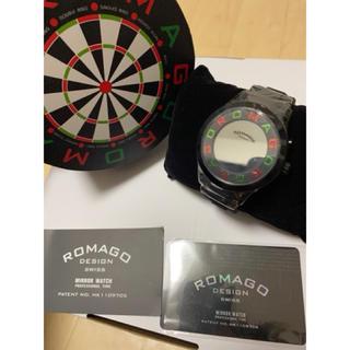 ロマゴデザイン(ROMAGO DESIGN)のROMAGO ロマゴ プロダーツプレイヤー 田渕亜季さん着用モデルミラーウォッチ(腕時計(デジタル))