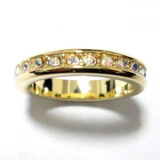 17号 スワロフスキー ゴールドリング(リング(指輪))