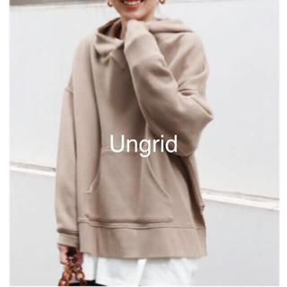 Ungrid - Ungrid アングリッド スリットワイドパーカー