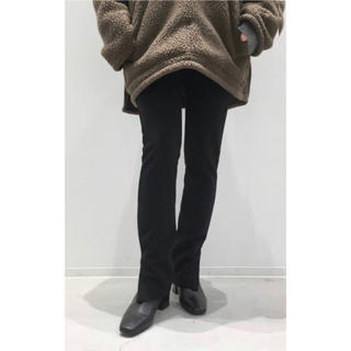 アパルトモンドゥーズィエムクラス(L'Appartement DEUXIEME CLASSE)のWool  Zip  Leggings  ブラック /   アパルトモン (レギンス/スパッツ)