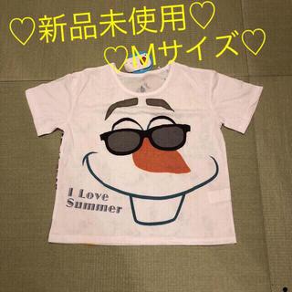 アナトユキノジョオウ(アナと雪の女王)のアナ雪 オラフ レディース Tシャツ Mサイズ(Tシャツ(半袖/袖なし))