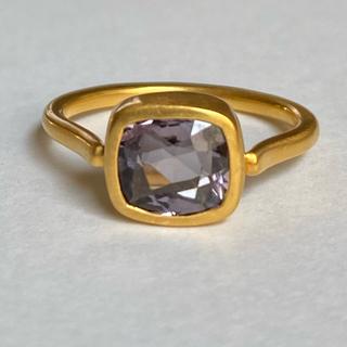 パープルスピネルk18可動式ゴールドリング検索マリーエレーヌ ジェムパレス(リング(指輪))
