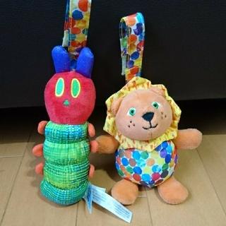 エリックカール 人形 あおむし ライオン(がらがら/ラトル)