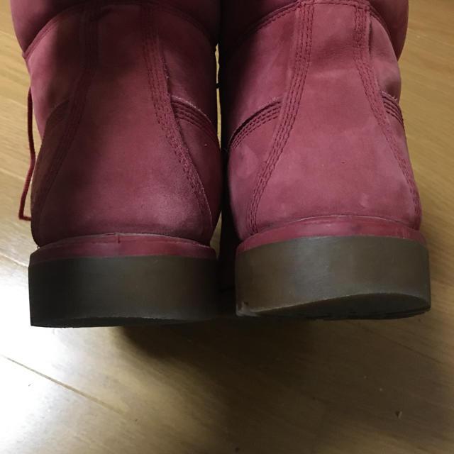 Timberland(ティンバーランド)のティンバーランド メンズブーツ    レッド 27.0cm メンズの靴/シューズ(ブーツ)の商品写真
