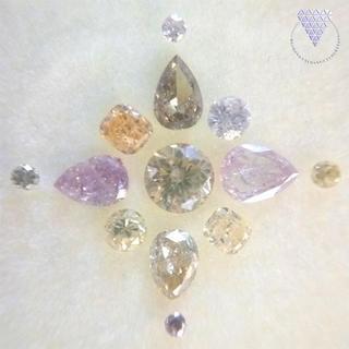 合計 約 0.97ct カラーミックス 天然 ダイヤモンド(リング(指輪))