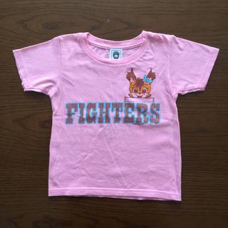 ホッカイドウニホンハムファイターズ(北海道日本ハムファイターズ)の110㎝ 北海道日本ハムファイターズ オフィシャルTシャツ ポリー ピンク(応援グッズ)
