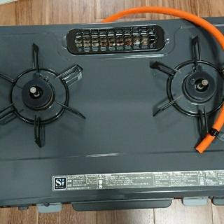 リンナイ(Rinnai)のRinnai 二口ガステーブル プロパンガス用 送料込(調理機器)