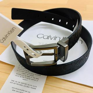 Calvin Klein - レア品★Calvin Klein 大人気のメンズリバーシブルモノグラムロゴベルト