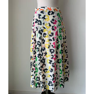エッセンシャルアントワープ マルチカラー シルクスカート(ひざ丈スカート)