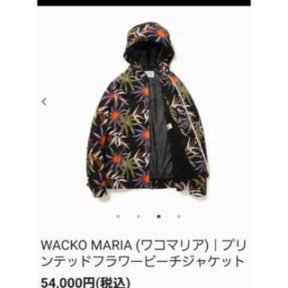 ワコマリア(WACKO MARIA)の定価54000  ワコマリア プリンテッドフラワービーチ ジャケット M赤(ブルゾン)