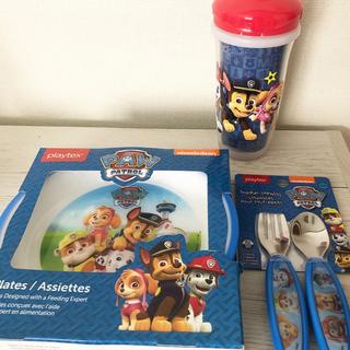 Disney - パウパトロール お食事 セット 皿 スプーン フォーク 水筒 マンチキン