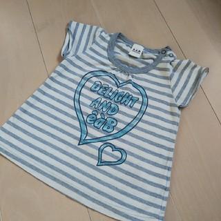エーアーベー(eaB)のべべ◆eab 女の子80 半袖Tシャツ 90 100 ボーダー(Tシャツ)