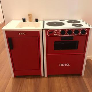 ブリオ(BRIO)の☆ ブリオ BRIO キッチンストーブ & シンク 台所 おままごと(知育玩具)